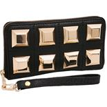 XL PYRAMIDE WALLET BLACK/GOLD