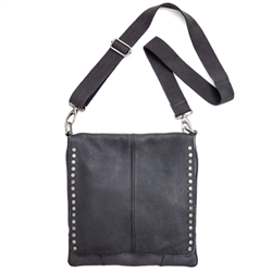 Messenger Bag Cow DD Black+S Silver