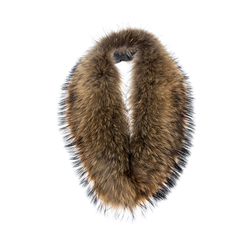 Detachable Fur collar Raccoon Natural One Size