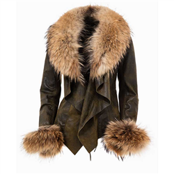 Detachable Fur cuff Raccoon Naturel One Size