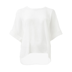 Athena Top, Poly chiffon, White