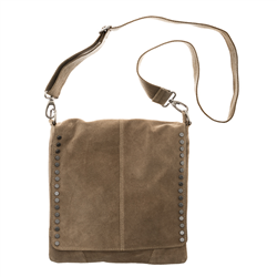 Messenger Bag, Cow Split Suede, Sand
