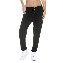 Chic pants, polyester jersey, black