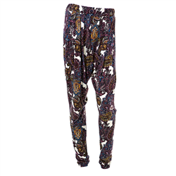 Erin pants, polyester jersey, Paisley
