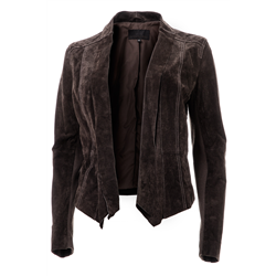 Layla jacket, Pig velvet Licorice