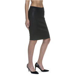 Rachel skirt, Leather Stretch, Black