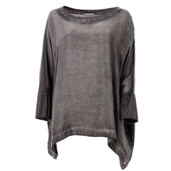 Jemma Top, Cold Pigment Jersey, Anthra Black