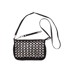 Mollie Snap sling, Lamb Washed, Black+ S silver