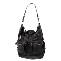 Carro bag, Cow DD, Black + Gun Metal