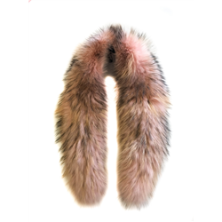 Detachable Fur collar Raccoon Cameo Rose, One Size