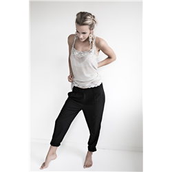 Singlet top, 100% Viscose Crepe Silver Grey
