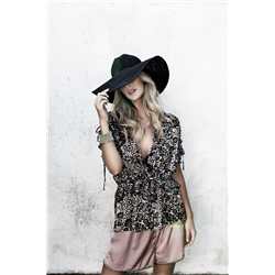 Becca Blouse 100% Polyester Lace print