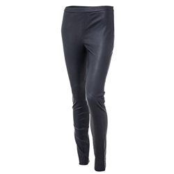 Lynn pants, Leather Stretch, Dk Blue