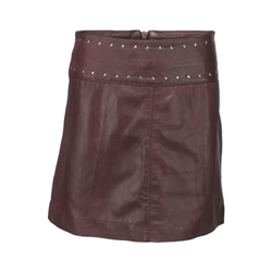 Hope skirt, Lamb napa Wine Red