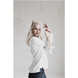 Stella Blouse, 100% Heavy Drape Off White