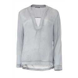 Jordan Blouse 100 % Modal Organic Cloud Blue