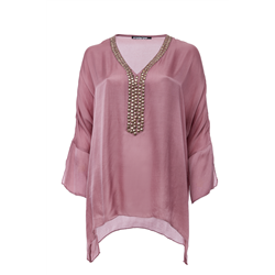 Blanche Blouse 100 % Modal Sateen Orchid Pink