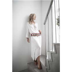 Blanche Dress 100 % Modal Sateen White