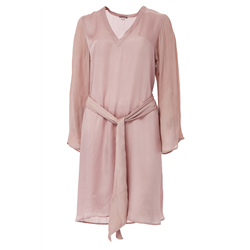 Keira Dress 100 % Modal Sateen+C Pale Mauve