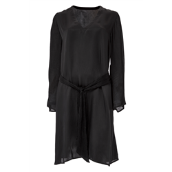 Keira Dress 100 % Modal Sateen+C Black