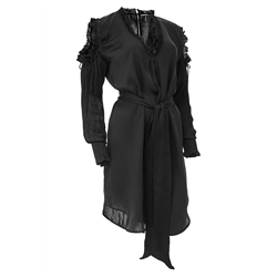 Riina Dress 100 % Modal Sateen+C Black