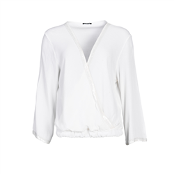 Celia Top 100 % Viscose Crepe White
