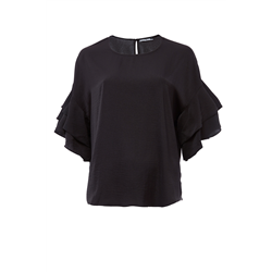 Belle Top 100 % Polyester Solid Black
