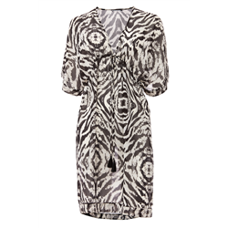 Jewel Dress100 % Polyester Chiffon Zebra Print