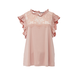 Vicky Top 100 % Modal Dusty Pink