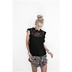 Vicky Top 100 % Polyester Black