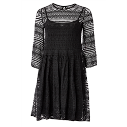 Lace Dress short 70% Viscose 30%Poly Black