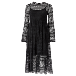Lace Dress long 70% Viscose 30%Poly Black