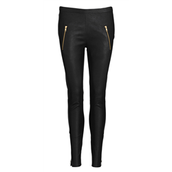 Carol Pants Lamb napa Stretch Black S Gold