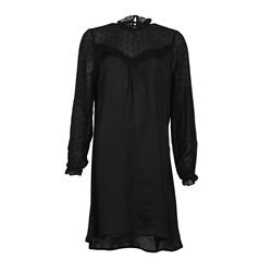 Salena Dress 100% Modal Swiss dot Black