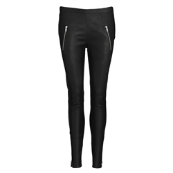Carol Pants Lamb napa Stretch Black Silver
