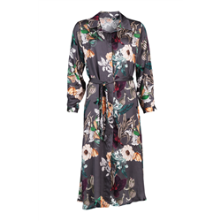 Alicia Dress 70% Viscose 30% Silk Orchid print