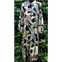 Margot Dress 70% VI+ 30%SI Camo print, Green