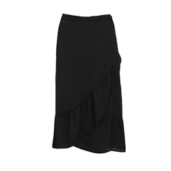 Flounce skirt 70% VI+30%SI Solid Black