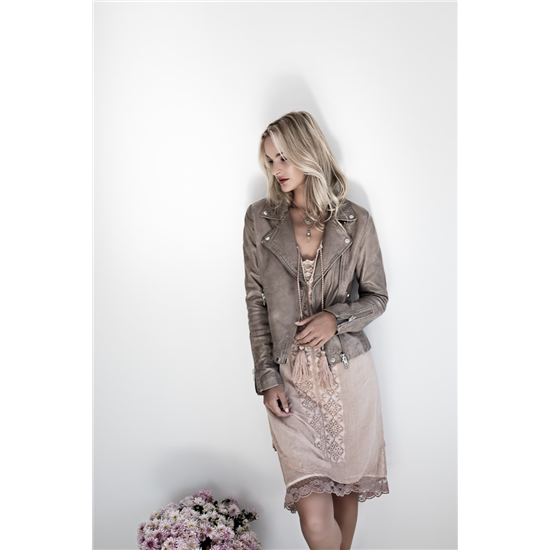 Bikery napa jacket -Atmosphere + Gael dress -pink.jpg