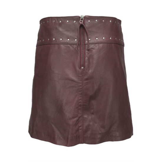 2Hope Skirt, Wine red backside.jpg