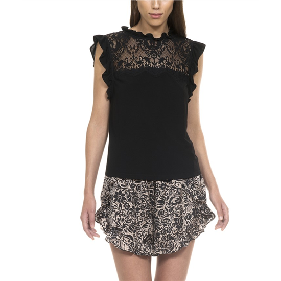 Vicky top+ Frill Shorts Lace print- Front - kopia.jpg