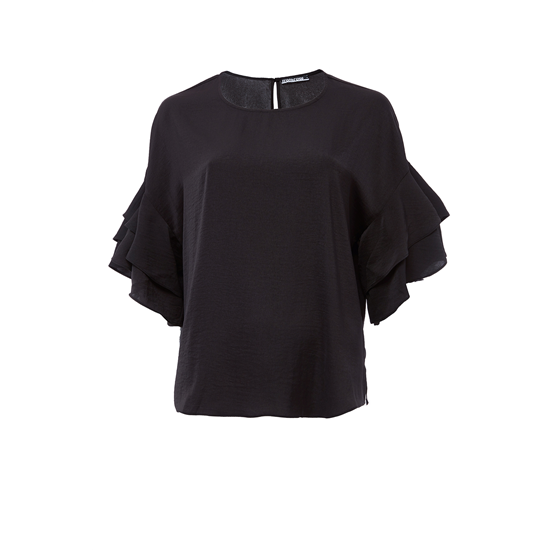 Belle Blouse, Satin, Black.jpg